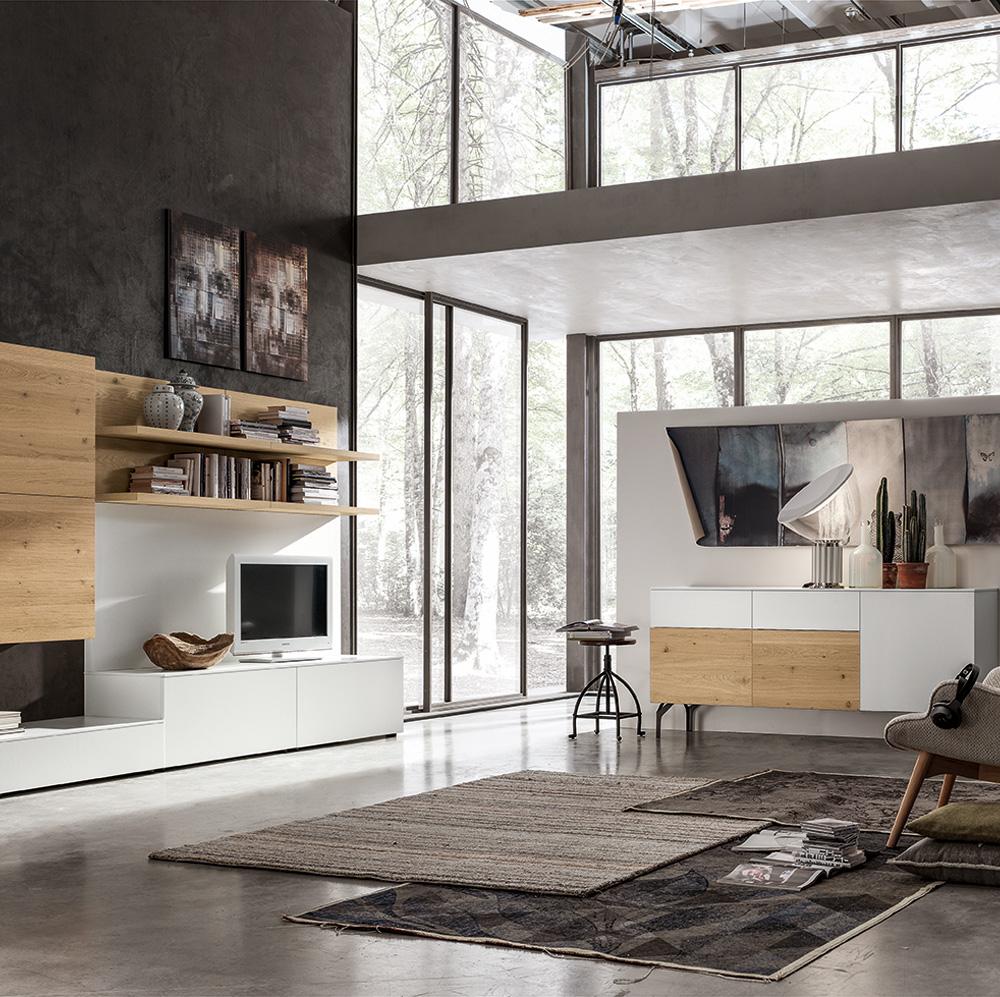 Zona giorno con mobili de mobilificio