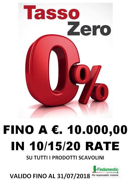 Promozione finanziamento tasso zero